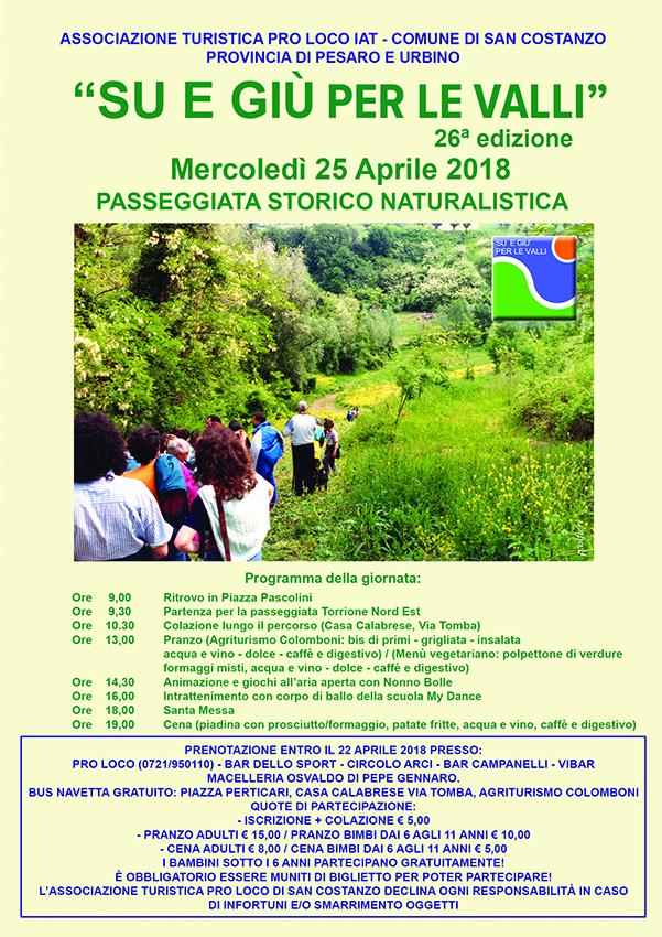 Su & Giù Per Le Valli – 26^ Edizione 25/04/2018