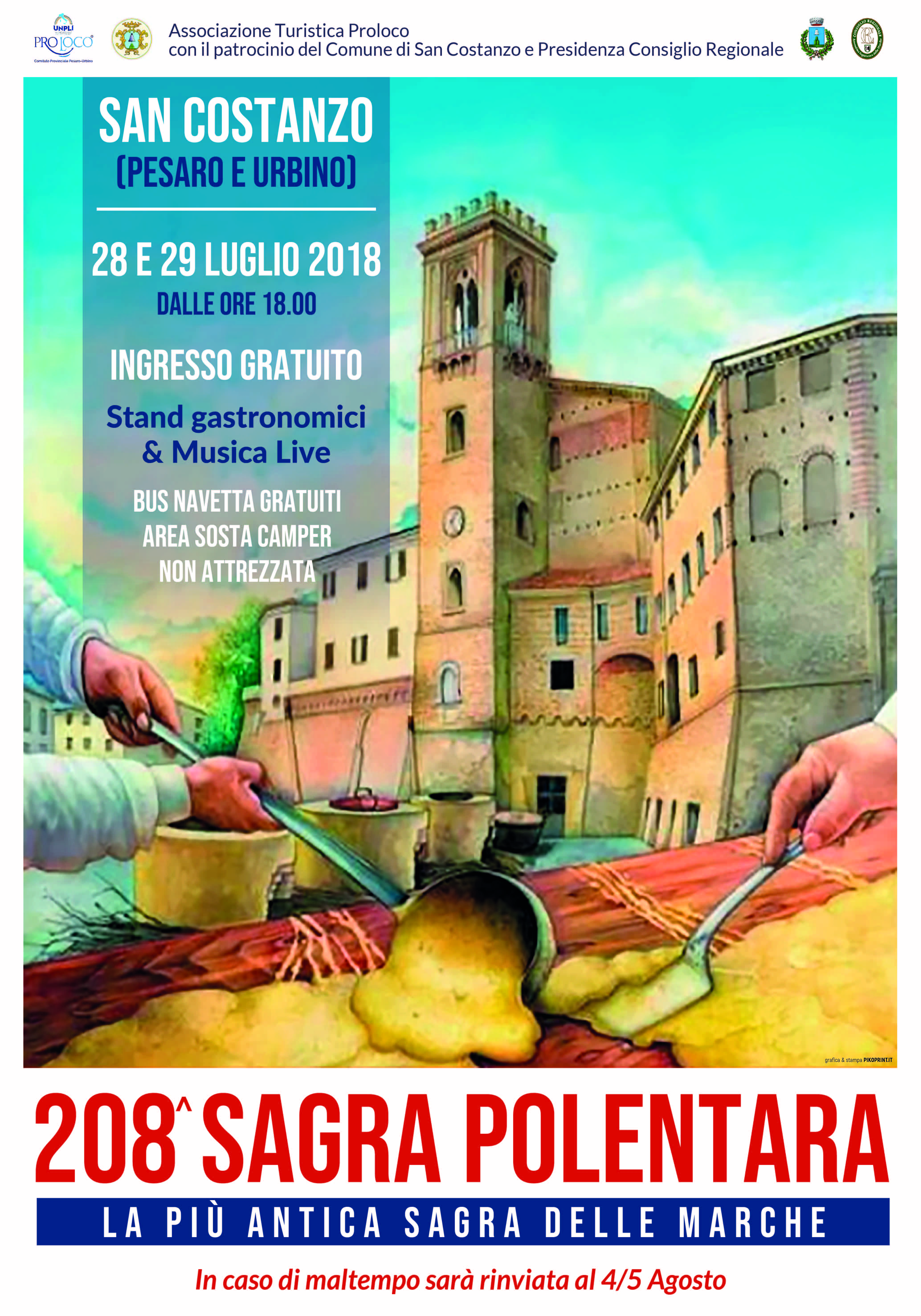 208^ Sagra Polentara – Edizione Estiva 28 & 29 luglio 2018